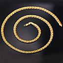 ieftine Momeală Pescuit-Pentru femei Lănțișoare Coliere Figaro lanț chunky Foxtail lanț Σταυρός femei Modă Dubai Placat Auriu 18K de aur umplut Argintiu Auriu Roz auriu Coliere Bijuterii Pentru Cadouri de Crăciun Nunt