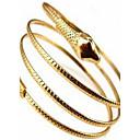 hesapli Bilezikler-Kadın's Halhallar - Yılan Kişiselleştirilmiş, Avrupa Bilezikler Altın / Gümüş Uyumluluk Düğün / Parti / Günlük