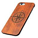 Χαμηλού Κόστους Θήκες iPhone-tok Για Apple Θήκη iPhone 5 Με σχέδια Ανάγλυφη Πίσω Κάλυμμα Κινούμενα σχέδια Σκληρή Ξύλινος για iPhone 7 Plus iPhone 7 iPhone 6s Plus