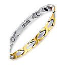 hesapli Yüzükler-Erkek Zincir & Halka Bileklikler - Titanyum Çelik Bilezikler Gümüş Uyumluluk Günlük