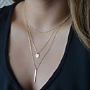 cheap Dog Clothing & Accessories-Women's Pendant Necklace Y Necklace Cheap Ladies Basic Fashion Silver Golden Necklace Jewelry For Party Daily Casual