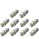 cheap Car Headlights-10pcs BA9S Car Light Bulbs 1 W SMD 5050 120 lm 5 LED Turn Signal Light For universal