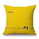 tanie Poduszki-szt Cotton / Linen Pokrywa Pillow, Słowa i cytaty Textured Na co dzień Akcent / Decorative Modern / Contemporary