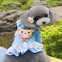 hesapli Köpek Giyim ve Aksesuarları-Köpek Kapüşonlu Giyecekler Elbiseler Köpek Giyimi Ayı Mavi Pembe Polar Kumaş Kostüm Evcil hayvanlar için Kadın's Sevimli Moda