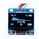 """hesapli Ekranlar-0.96 """"iic seri 128x64 OLED lcd arduino 51 msp420 stim32 scr için ekran modülü led mavi I2C inç"""