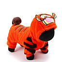 cheap Cooking Tools & Utensils-Cat Dog Costume Jumpsuit Dog Clothes Cartoon Orange Plush Fabric Costume For Pets Men's Women's Cute Holiday Cosplay