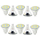 abordables Ampoules Globe LED-gu4 (mr11) décoration lumière mr11 15 smd 5730 480lm blanc chaud froid blanc 3000-6000k décoratif 9-30v