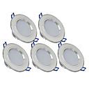 hesapli Duvar Sanatı-270 lm 6 LED Boncuklar Kolay Kurulum Gömme LED Gömme Işıklar Sıcak Beyaz Serin Beyaz 85-265 V Ev / Ofis Çocuk Odası Mutfak / 5 parça / CE