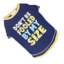 رخيصةأون شرائط ضوء مرنة LED-كلب T-skjorte ملابس الكلاب مطبوعة بأحرف وأرقام أزرق وأصفر قطن كوستيوم من أجل الصيف