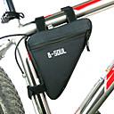 رخيصةأون اضواء الدراجة-B-SOUL حقيبة دراجة الإطار مثلث الإطار الإطار مكتشف الرطوبة يمكن ارتداؤها مقاومة الهزة حقيبة الدراجة البوليستر PVC تيريليني حقيبة الدراجة حقيبة الدراجة أخضر / الدراجة / سحاب مقاوم للماء