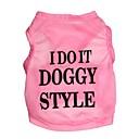 hesapli Köpek Giyim ve Aksesuarları-Kedi Köpek Tişört Köpek Giyimi Çiçek/Botanik Siyah Mavi Pembe Terylene Kostüm Evcil hayvanlar için Erkek Kadın's Moda