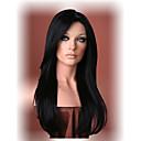 hesapli Makyaj ve Tırnak Bakımı-Sentetik Peruklar Düz Sentetik Saç Siyah Peruk Kadın's Uzun Bonesiz Siyah