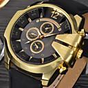 cheap Men's Watches-Men's Quartz Military Watch Leather Band Charm / Fashion Black / Blue / Brown / Khaki