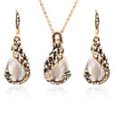 hesapli Küpeler-Kadın's Opal Takı Seti - Zirkon Damla Tatlı, Moda Dahil etmek Altın Uyumluluk Günlük Bikini / Kolczyki