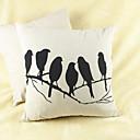 tanie Dekoracyjne naklejki-szt Cotton / Linen Pokrywa Pillow, Wzór zwierzęcy Wzory graficzne Na co dzień