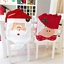 hesapli Köpek Giyim ve Aksesuarları-Sandalye Kılıfı Çiçek/Botanik Tatil İlham Verici Tekstil Noel Karikatür Noel Yenilikçi Cadılar Bayramı Parti Noel Dekorasyon