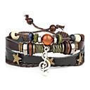 cheap Bracelets-Men's Leather Bracelet - Leather Punk Bracelet Jewelry Black For Daily Casual