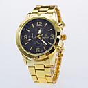 hesapli Erkek Saatleri-Erkek Quartz Elbise Saat / Gündelik Saatler Alaşım Bant Günlük Altın Rengi