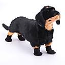 رخيصةأون ملابس وإكسسوارات الكلاب-كلب أحذية و جزم للحيوانات الأليفة نايلون أسود