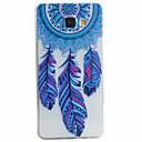 baratos Broches-Capinha Para Samsung Galaxy Samsung Galaxy Capinhas Estampada Capa traseira Penas Macia TPU para A5(2016) / A3(2016)
