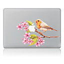 hesapli Mac Stickerlar-1 parça Deri Etiket için Çizilmeye Dayanıklı Çiçek Tema PVC MacBook Pro 15'' with Retina MacBook Pro 15'' MacBook Pro 13'' with Retina