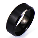 cheap Rings-Men's Band Ring - Personalized, Punk, Rock 6 / 7 / 8 Black For Christmas Gifts / Daily / Casual