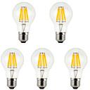 Недорогие LED лампы накаливания-5 шт. 800 lm E26/E27 LED лампы накаливания A60(A19) 8 светодиоды COB Декоративная Тёплый белый Холодный белый AC 85-265V