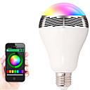 Недорогие LED лампы накаливания-1шт 12W 600lm E26 / E27 Умная LED лампа 20 Светодиодные бусины SMD 5050 Smart Bluetooth Диммируемая Контроль APP Декоративная 85-265V