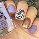 ieftine Cercei-1 pcs Ștampila de ștanțare Format Design Modern nail art pedichiura si manichiura Stilat / Modă Zilnic / ștampilare Placă / Oțel