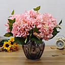 tanie Dekoracja biura-Sztuczne Kwiaty 1 Gałąź Fason europejski Hortensje Bukiety na stół