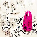 hesapli iPad Kılıfları/Kapakları-1 pcs Su Transferi Sticker tırnak sanatı Manikür pedikür Moda Günlük