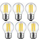 halpa Galaxy S -sarjan kotelot / kuoret-6kpl 5 W LED-hehkulamput 550 lm E26 / E27 G45 6 LED-helmet COB Koristeltu Lämmin valkoinen 220-240 V / 6 kpl / RoHs