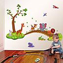 hesapli Çıkartmalar ve Desenler-Dekoratif Duvar Çıkartmaları - Uçak Duvar Çıkartmaları Hayvanlar / Moda / Karton Oturma Odası / Yatakodası / Çalışma Odası / Ofis