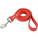 preiswerte Hundehalsbänder, Geschirre & Leinen-Hund Leinen Bequem Solide Streifen PU-Leder Weiß Schwarz Rot Blau Rosa