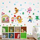 preiswerte Innendekoration-Tiere Stillleben Botanisch Wand-Sticker Flugzeug-Wand Sticker 3D Wand Sticker Dekorative Wand Sticker Kühlschrank Sticker Haus Dekoration