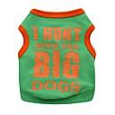 preiswerte Bekleidung & Accessoires für Hunde-Katze Hund T-shirt Hundekleidung Buchstabe & Nummer Schwarz Orange Gelb Grün Baumwolle Kostüm Für Haustiere Herrn Damen Niedlich