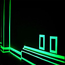 hesapli LED Mısır Işıklar-merdiven kapı motosiklet otomobil aydınlık bant yansıtıcı yeşil floresan etiketi gece ışık bant şerit çıkartma dekorasyon