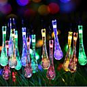 ieftine Fâșii Becurie LED-super-dimensiuni galaxie picături lumina șir de lumini colorate 2 metri 20 cutie cap de baterie de lămpi 2.3metru