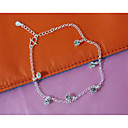 cheap Anklet-Anklet - Silver Plated, Imitation Diamond Fashion Silver For Wedding / Party / Daily / Women's