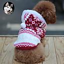 voordelige Hondenkleding & -accessoires-Kat Hond Jassen Hoodies Hondenkleding Sneeuwvlok Bruin Rood Blauw Katoen Kostuum Voor Lente & Herfst Winter Heren Dames Houd Warm Modieus