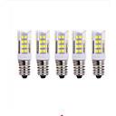 hesapli LED Spot Işıkları-5pcs 5W 2700-3000/6000-6500lm E14 LED Mısır Işıklar T 51 LED Boncuklar SMD 2835 Sıcak Beyaz Serin Beyaz 220V