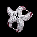 preiswerte Ohrringe-Damen Statement-Ring - Sterling Silber Seestern Modisch 6 / 7 / 8 Silber Für Hochzeit Party Alltag