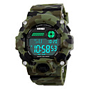 cheap DisplayPort-SKMEI Men's Sport Watch Military Watch Wrist Watch Digital 30 m Water Resistant / Water Proof Alarm Calendar / date / day PU Band Digital Multi-Colored - Camouflage Green Two Years Battery Life / LED