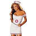 رخيصةأون أساور ساعات هواتف أبل-نسائي ازياء الوظيفي الممرضات موحدة خدمات المستشفى الجنس أزياء Cosplay أزياء الحفلة ألوان متناوبة الالتفاف قبعة / سباندكس