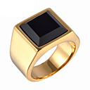 cheap Rings-Men's Statement Ring / Ring - Titanium Steel Vintage, Fashion 8 / 9 / 10 Gold / Silver For Daily / Casual