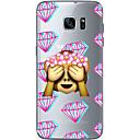 hesapli Galaxy S Serisi Kılıfları / Kapakları-Pouzdro Uyumluluk Samsung Galaxy S7 edge / S7 Ultra İnce / Şeffaf / Temalı Arka Kapak Karton Yumuşak TPU için S7 edge / S7 / S6 edge plus