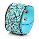 preiswerte Armbänder-Damen Kristall Armreife Lederarmbänder - Leder, Türkis Böhmische, Geburtssteine, Boho Armbänder Rot / Blau / Dunkelrot Für Party Alltag