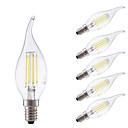 preiswerte LED-Scheinwerfer-GMY® 6pcs 3.5 W 400/350 lm E14 LED Glühlampen B 4 LED-Perlen COB Abblendbar Warmes Weiß / Kühles Weiß 220-240 V / 6 Stück / RoHs