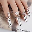 hesapli HDMI Kablolar-Kadın's Bildiri Yüzüğü Tırnak parmak halkası - Gümüş Kaplama Çiçek Bayan, Kişiselleştirilmiş, Eşsiz Tasarım, Moda Mücevher Uyumluluk Düğün Parti Hediye Günlük Ayarlanabilir