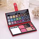 33 Polvo Coloretes+Sombras de Ojos Lápices de Cejas+Barras de Labios Ojo Rostro Labio Gloss colorido Control de Aceite Larga Duración